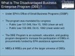 what is the disadvantaged business enterprise program dbe
