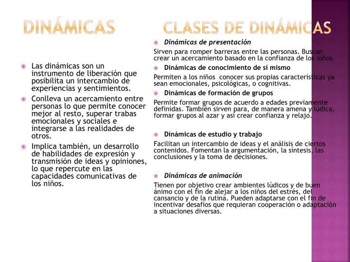 Clases de Dinámicas