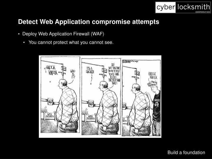 Detect Web Application compromise attempts