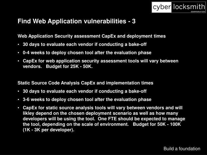 Find Web Application vulnerabilities - 3