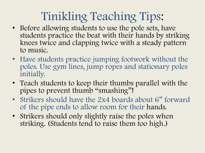Tinikling Teaching Tips