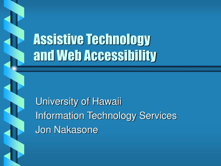 assistive technology and web accessibility n.