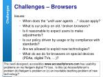 challenges browsers