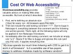 cost of web accessibility