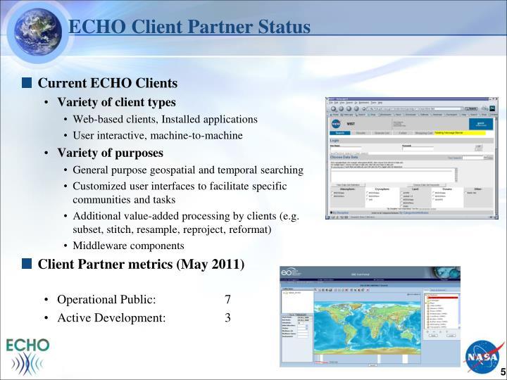 ECHO Client Partner Status