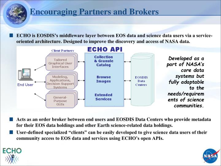 Encouraging partners and brokers
