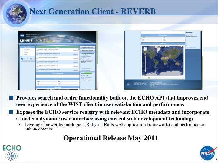 Next Generation Client - REVERB