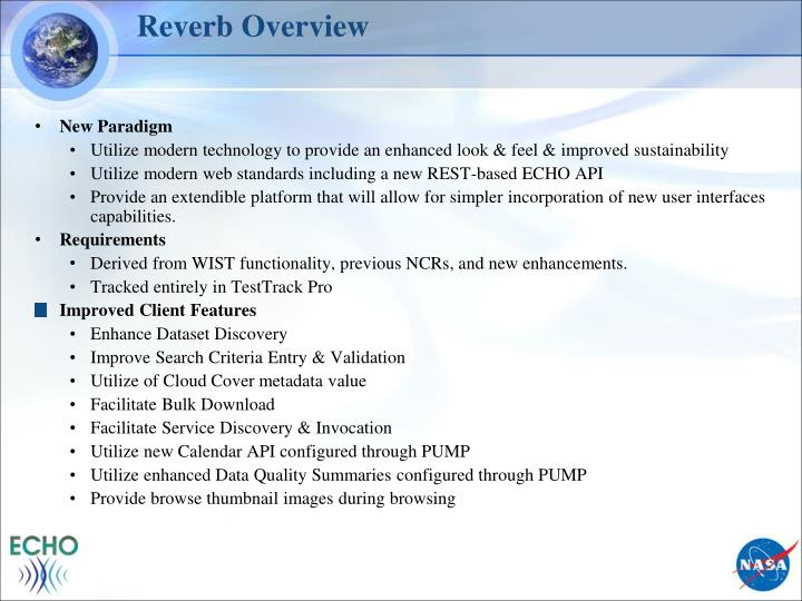 Reverb Overview