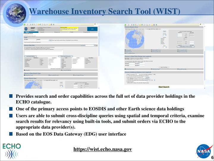 Warehouse Inventory Search Tool (WIST)