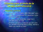 criterios para el inicio de la terapia antirretroviral1