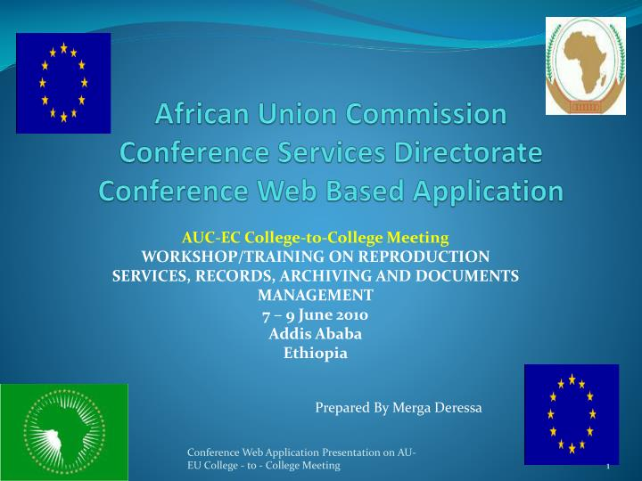 african union commission conference services directorate conference web based application n.