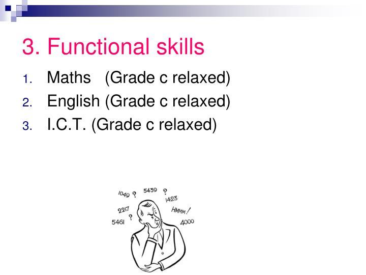 3. Functional skills
