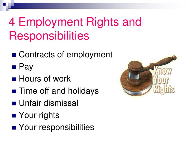 4 Employment Rights and Responsibilities