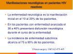 manifestaciones neurol gicas en pacientes hiv reactivos