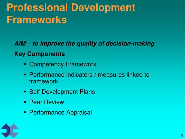 Professional Development Frameworks