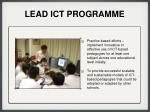 lead ict programme