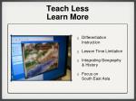 teach less learn more