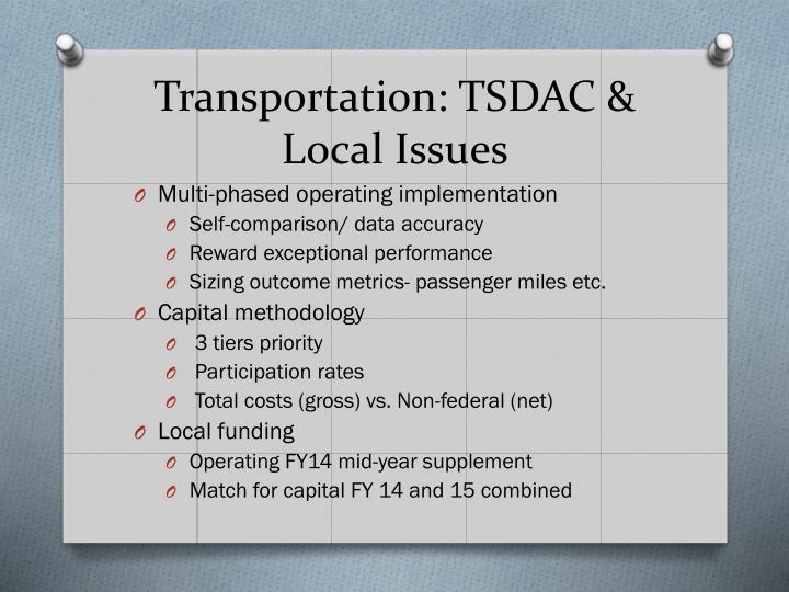 Transportation tsdac local issues1