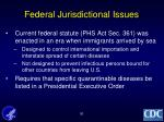 federal jurisdictional issues