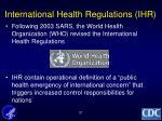 international health regulations ihr