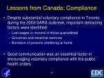 lessons from canada compliance