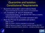 quarantine and isolation constitutional requirements