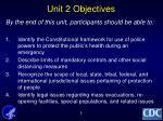 unit 2 objectives