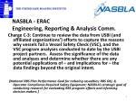 nasbla erac engineering reporting analysis comm