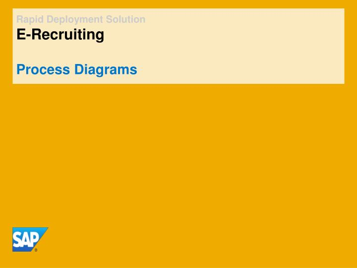 rapid deployment solution e recruiting process diagrams n.