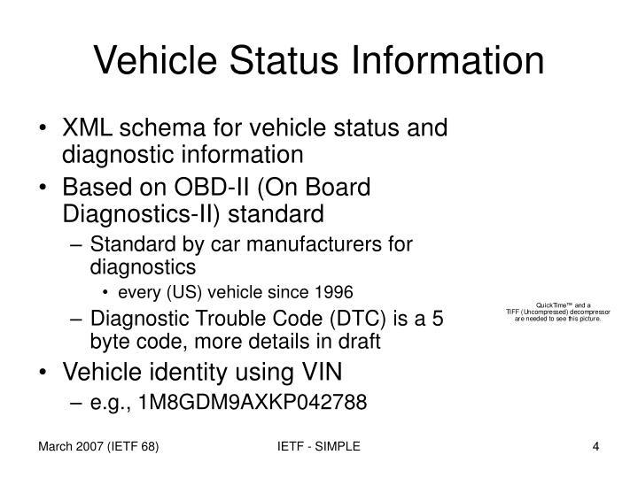 Vehicle Status Information