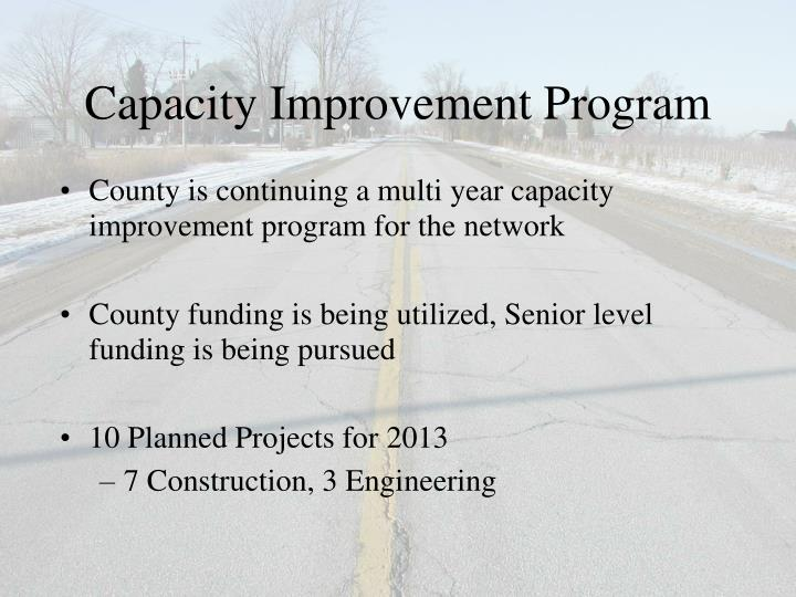 Capacity Improvement Program