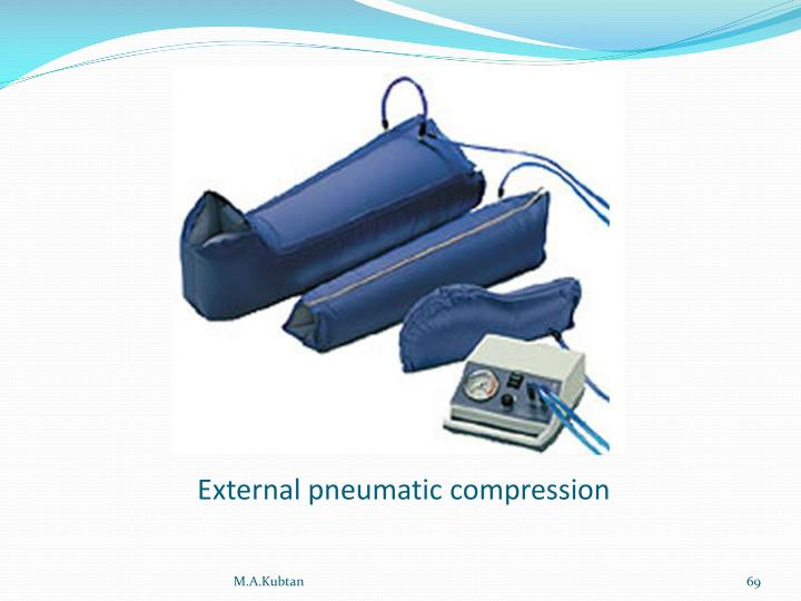 External pneumatic compression