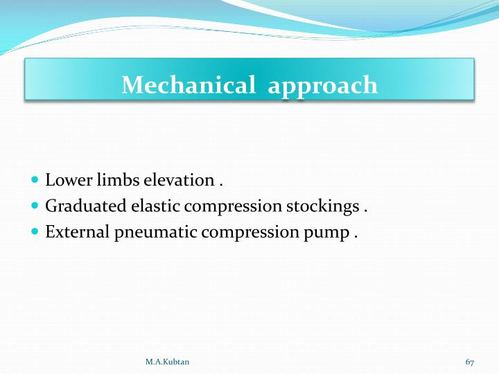Mechanical  approach