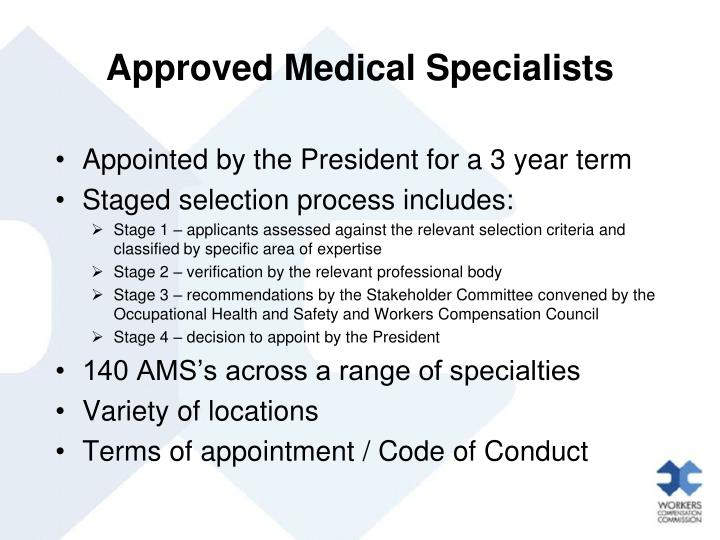 Approved Medical Specialists