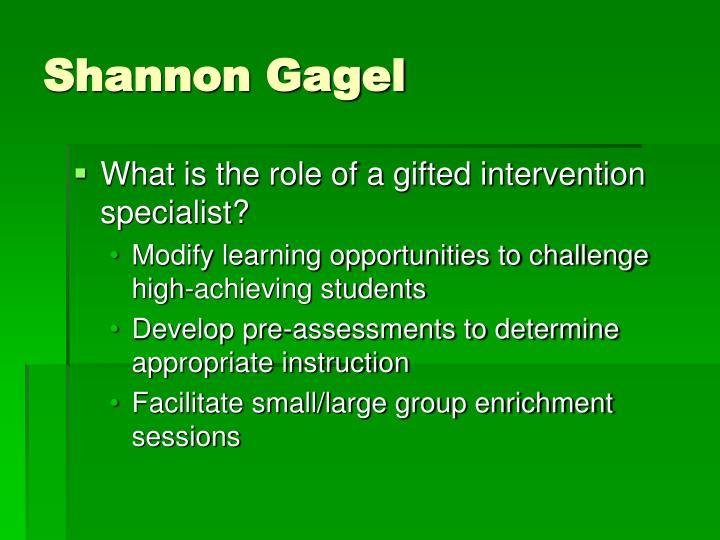Shannon Gagel