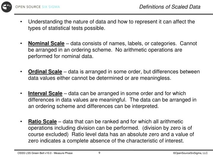 Understanding the nature of data and how to represent it can affect the types of statistical tests possible.