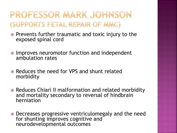 Professor mark johnson