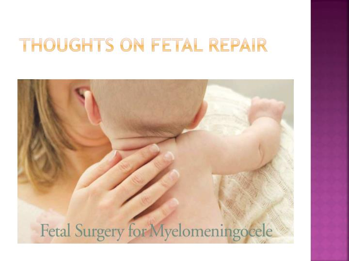 Thoughts on fetal repair