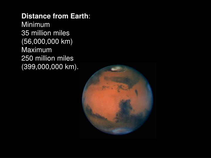 Distance from Earth
