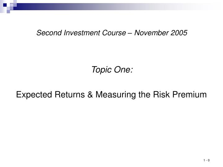 second investment course november 2005 n.