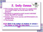2 daily census