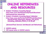 online references and resources