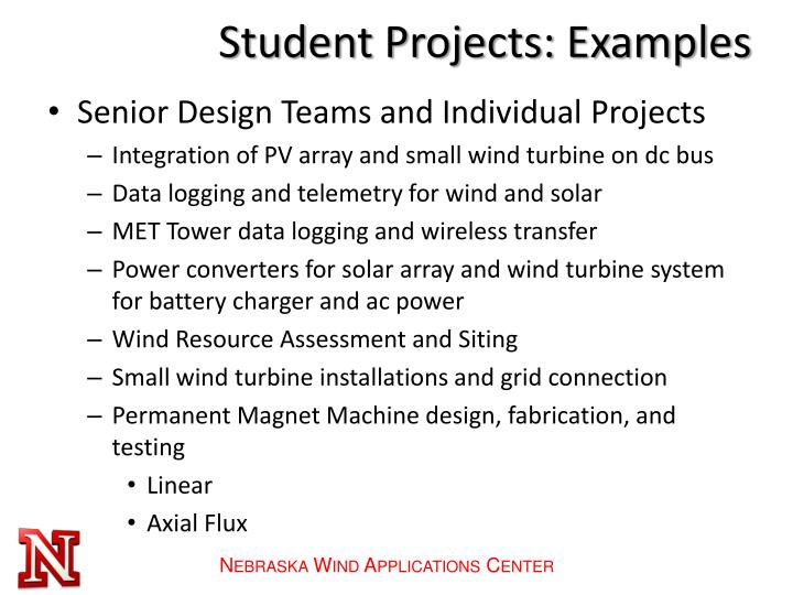 Student Projects: Examples