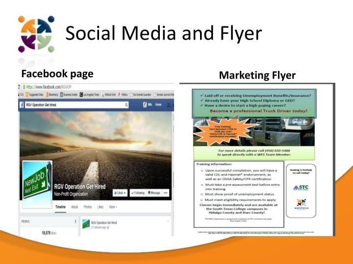 Social Media and Flyer
