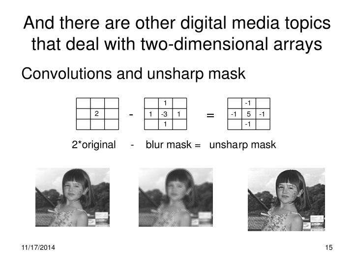 And there are other digital media topics