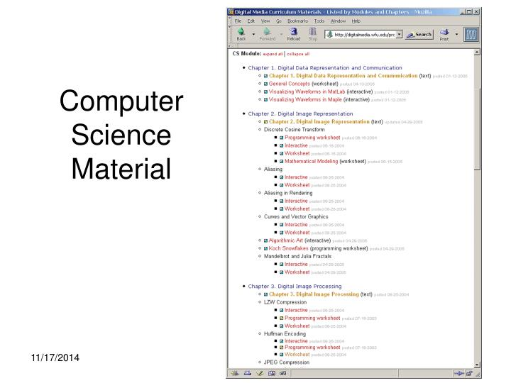 Computer science material