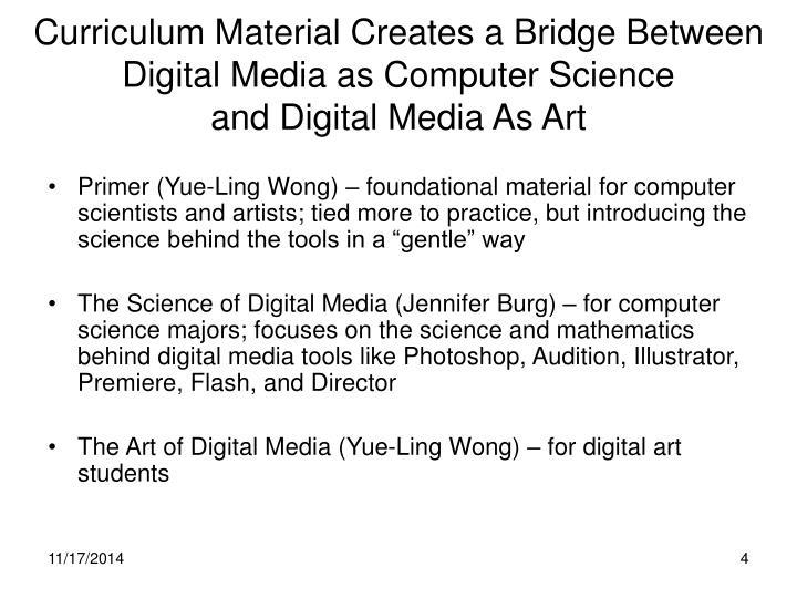 Curriculum Material Creates a Bridge Between