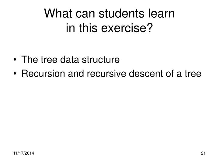 What can students learn