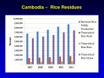 cambodia rice residues