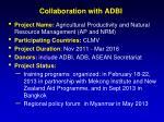 collaboration with adbi